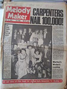 Melody Maker July 5th '75 - Deaf School Pink Floyd Sparks Greenslade Wigwam