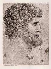 "Striking LEONARDO DA VINCI 1800s Antique Print ""The Apostle"" Framed SIGNED COA"