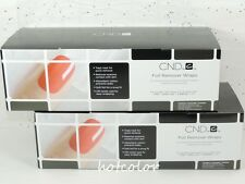 CND FOIL REMOVER WRAPS Gel Polish Removal : 2 Wraps 250 Pack