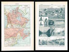 1922 Antique Map - Canada, North America, Baffin Island - Larousse