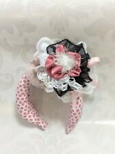 fascinator Headband Pink Marie Antoinette style Padded hairband Mini Hat