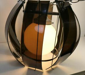 Vintage Gilbert MOD Style Hanging Light 1960's 1970's Plastic and Metal Rare!