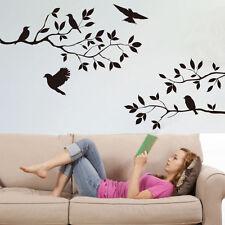 El Árbol Ramas Pájaros Hojas Adhesivo Pared Calcamonías De Vinilo