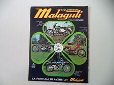 advertising Pubblicità 1974 MALAGUTI FIFTY 50/CAVALCONE CROSS 125/QUATTROTTO