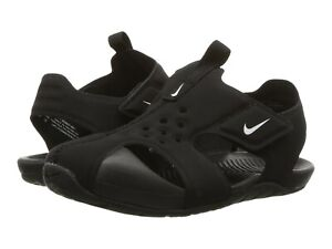 Nike Boys Water Sandals Black/White  Sunray Protect 2 PS Little  Boys Size 8
