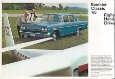 American Motors Rambler Classic 770 1966 Original UK Sales Brochure Sedan Wagon