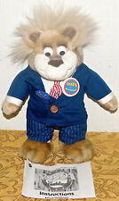 "1999 Bubba for President Wisecrackin Talking Plush Bear Toy 13"" Talks Trump"