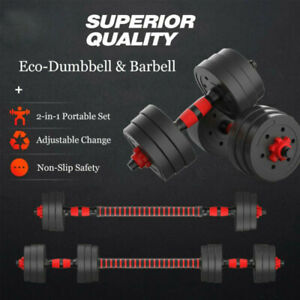 10-30KG Adjustable Rubber Dumbbell Set Barbell Home GYM Exercise Weights Fitness