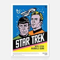 2018 Topps 80th Anniversary Wrapper Art - Star Trek - 1976 -10x14 Poster