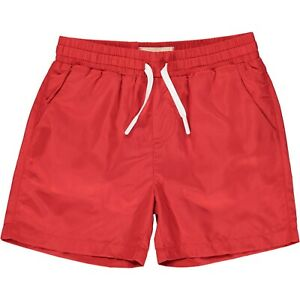Me & Henry Boys Solid Red Surf Swim Shorts Trunks Liner 5 - 6 years NEW HB800J