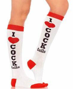 Cocktails Acrylic Knee High Socks - Leg Avenue 5606