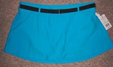 FREE COUNTRY Turquoise Stretch Swim Wrap Skirt with Attached Panties Size 2XL