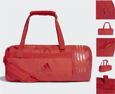 ADIDAS Gym Carry Bag Convertible Red Canvas Duffel Shoulder Bags Backpack BNWT