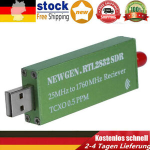 Premium USB-RTL-SDR w / 0,5 PPM TCXO Metall Fall SMA R820T2 RTL2832U grün DE