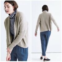 Madewell Cardigan Womens Size XS Horizontide Sweater Grey Cotton Blend Open Frt