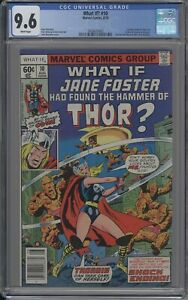WHAT IF? 10  CGC 9.6 WHITE 1978 FIRST JANE FOSTER AS THOR MCU LOVE & THUNDER MCU