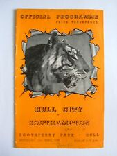 Hull City v Southampton 1952/1953 - Football Programme