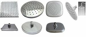 Large 8  Inch Rain Style Shower Head Chrome Finish with Swivel Ball Connection