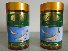 Omega 3 Fish Oil with Vitamin E 1000mg 365 Capsules (2 Pack) by Body & Health