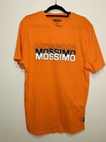 MOSSIMO Orange Size 16 Text Logo Print S/S Pullover Crew Neck Cotton T Shirt Top