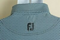 FootJoy FJ Men's blue on blue starry pattern short sleeve golf polo shirt XL EUC