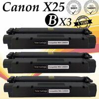 3PK X25 BK Toner Cartridge For Canon ImageClass MF5770 MF5750 MF5730 LBP-300LDA