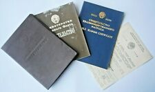 4 USSR Navy ABLE SEAMAN CERTIFICATE Documents SOVIET Marine 1981-1985 Russian FL