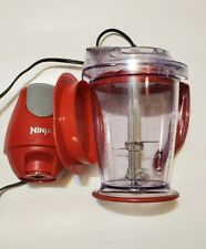 Ninja Storm Food Processor Blender QB751Q Master Bowl 450W Motor Power - RED