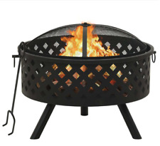 "Fire Pit with Poker 26.8"" Xxl Steel Fire Place outdoors Fireplace New"