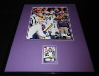 Randy Moss 16x20 Framed Game Used Jersey & Photo Display Minnesota Vikings UDA