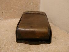 S25 ANTIQUE BRASS WALL MOUNT ASHTRAY MATCH HOLDER ASH RECEIVER NFR LNER