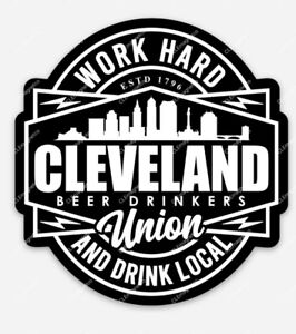 Cleveland Beer Drinkers Union MAGNET - Drink Local Indians Browns Cavaliers CLE