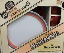 New Old Stock! Vtg Brookpark Melamine Set 20 Piece Dinnerware Set SERVICE for 4
