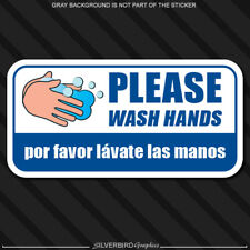 Wash Hands Sticker Decal Safety Sterilize Sign Window Business Store Please Your