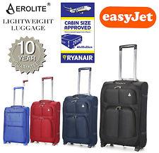 "Aerolite Hand Luggage 18/21"" 55/50cm Lightweight Easyjet/Ryanair Cabin Suitcase"