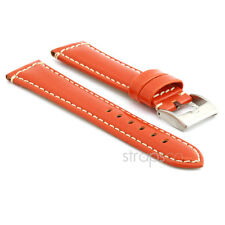StrapsCo Smooth Leather Watch Band Mens or Womens Strap w Stainless Buckle