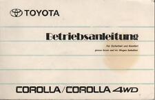 TOYOTA COROLLA 6 E90 Betriebsanleitung 1991 Bedienungsanleitung Handbuch  BA