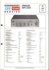ITT Service Manual für HiFi 2440