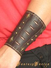 Steampunk Medieval Futurist Sci Fi Armor Leather BracerS -A Pair-