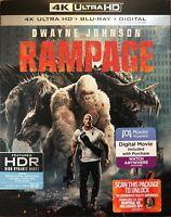 RAMPAGE * 4K UHD + BLU-RAY + Slipcover * Dwayne Johnson / The Rock