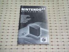 Nintendo 64 Expansion Pak Bedienungsanleitung / Anleitung Nintendo 64 N64