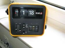 Elac  RD 100 Klappzahlenwecker- Radio, orange aus den 70er