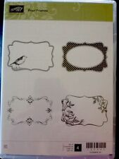 """FOUR FRAMES"" Stampin'UP! NEW~CLEAR/CLING unmounted- tags,frames,bird,flowers"
