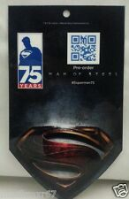 SDCC Comic Con 2013 SUPERMAN 75 years Man of Steel promo card RARE!