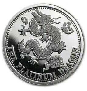 Johnson Matthey Platinum Dragon (BU) 1 oz Round .9995 Fine - Ultra Rare! (1988)