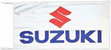 Large Suzuki flag (white)     1500mm x 900mm      (of)