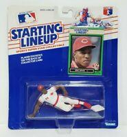 ERIC DAVIS Cincinnati Reds Starting Lineup SLU 1989 MLB Action Figure & Card NEW