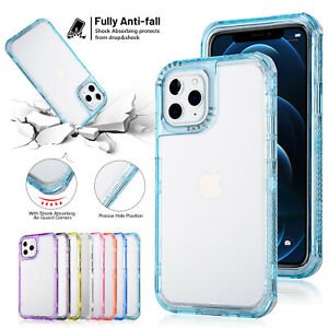 Clear Case For iPhone 12 13Pro Max 11 X 8 7+ Shockproof Bumper Transparent Cover