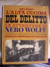 Rex Stout L'ALTA CUCINA DEL DELITTO ed. Omnibus Mondadori 1971