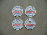 Lot of 4 Harshbarger Dairy Milk Bottle Caps Altoona Pa Blair County Sheetz